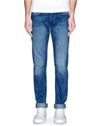 Mauro Grifoni Washed Slim Fit Jeans - Lyst