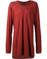 Ann Demeulemeester Oversize Long Sleeve T-Shirt - Lyst