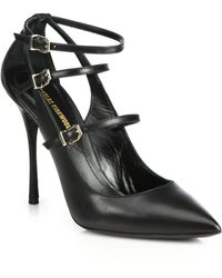 Nicholas Kirkwood Criss-cross Leather Pumps - Lyst