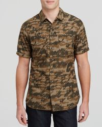 Wings + Horns Tiger Spruce Camo Short Sleeve Button Down Shirt - Slim Fit - Lyst