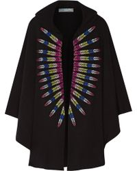 Mara Hoffman - Embroidered French Cotton-terry Hooded Cape - Lyst
