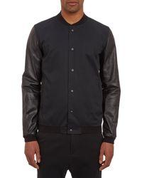 Basco - Lambskinsleeve Varsity Jacket - Lyst