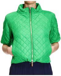 MICHAEL Michael Kors Jacket Cape Sleeve 3/4 Jacket Coat Quilted - Lyst