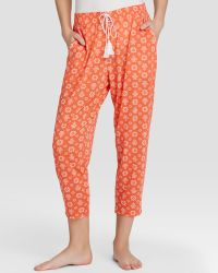 Kensie Just Cruise Coral Kick Flower Crop Pants - Lyst