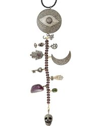 CB Bronfman - Ruby Tuesday Skull Necklace - Lyst