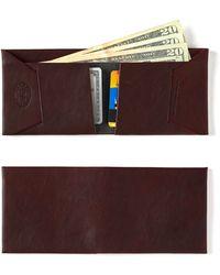 Maxx + Unicorn - Leather Wallet In Oxblood - Lyst