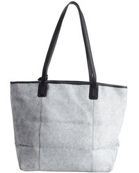 Olivia Harris Grey Cracked Leather Tote Bag gray - Lyst
