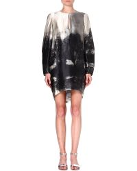 Stella McCartney Silk Tunic Dress Grey - Lyst