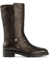 Tod's Mid Calf Length Boots - Lyst