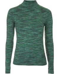 Topshop Space Dye Funnel Neck Top - Lyst