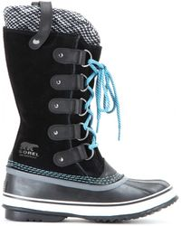 Sorel Joan Of Arctic Knit Suede and Rubber Boots - Lyst