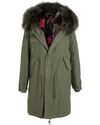 Mr & Mrs Furs Garance Fox Fur Lined Parka Coat - Lyst