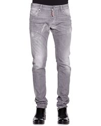 DSquared2 Cool Guy Slim-fit Gray Distressed Jeans - Lyst