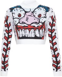 Jeremy Scott Cropped Monster Knit - Lyst