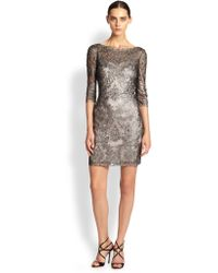 Kay Unger Lace Shift Dress - Lyst