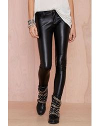 Nasty Gal Blank Nyc Blacked Out Vegan Leather Pant - Lyst
