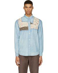 Visvim Blue Faded Granger Chambray Shirt - Lyst