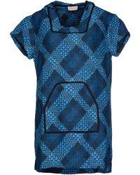 Calla Short Dress blue - Lyst