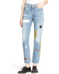 Aries - 'norm' Taped Straight Leg Jeans - Lyst