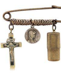 Maria Zureta - Religious Bronze Safety Pin - Lyst