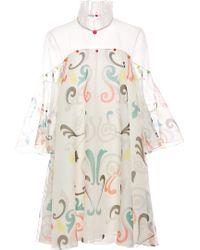 Honor Neon Fleur De Lis Organza Dress with Candy Embellishment - Lyst