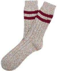 Etiquette - Sherpa Ribbed Socks - Lyst