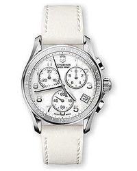 Swiss Army - - Women's 'chrono Classic' Swiss Quartz Stainless Steel And White Leather Casual Watch - 241418 - Lyst