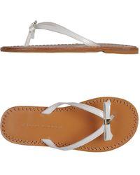 Ralph Lauren White Thong Sandal - Lyst
