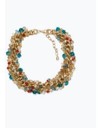 Zara Chain Necklace with Jewels - Lyst