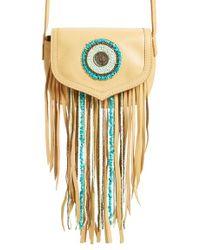 Sam Edelman Arianae Fringed Cross-Body Bag - Natural