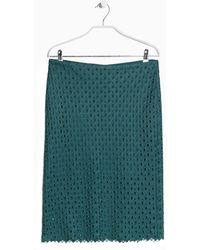 Mango Guipure Midi Skirt - Lyst