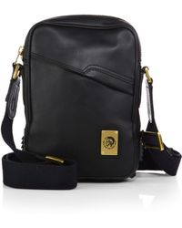 Diesel Rub Rock Leather Crossbody Bag - Lyst