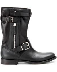 Burberry Brit - Grantville Leather Biker Boots - Lyst