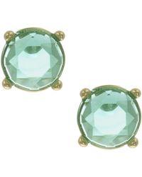 Anne Klein - Erinite Gemstone Button Stud Earrings - Lyst