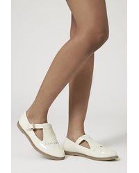 Topshop Georgina Patent Geek Shoes - Lyst