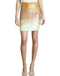Versace Sequined Pencil Skirt - Lyst