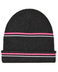 T By Alexander Wang - Striped Ribbed-Knit Beanie - Lyst