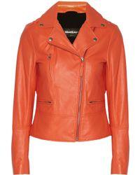 Mackage Dasia Leather Biker Jacket - Lyst