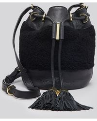 See By Chloé Shoulder Bag - Vicki Small Shearling Bucket - Lyst