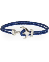 Mateo - Blue Bijoux Anchor Bracelet - Lyst