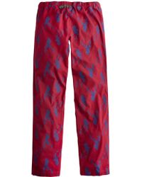 Joules - Stag Print Lounge Trousers - Lyst