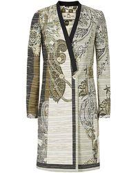 Etro Floral Paisley Jacquard Coat - Lyst