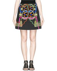 Peter Pilotto - Rope Embroidery Perspex Appliqué Mini Skirt - Lyst