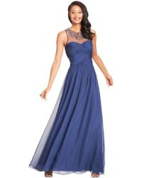JS Boutique Embellished Illusion Sweetheart Gown - Lyst