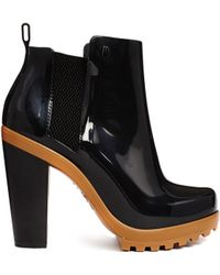 Melissa Soldier Black and Camel Contrast Heeled Boots - Lyst