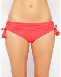 Seafolly Goddess Banded Hipster Tie Side Bikini Bottom - Lyst