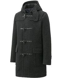 Uniqlo Wool Blended Duffle Coat - Lyst