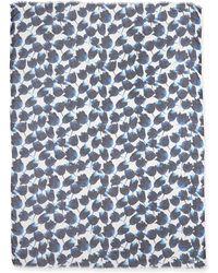 Oscar de la Renta Tulip-Print Modal/Cashmere Scarf - Lyst