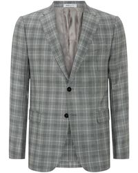 Armani Checked Jacket - Lyst