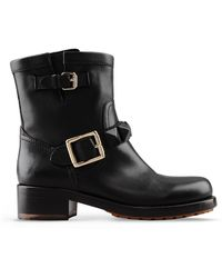Valentino | Studded Leather Biker Boots | Lyst